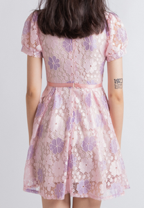 Luxe Lace Dress (Pink)