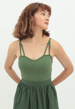 Load image into Gallery viewer, Marigold Sweetheart Neckline Bralette (Green)