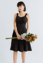 Load image into Gallery viewer, Jasmine Skater Dress (Black)