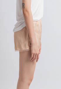 Silky Satin Lace Inner Pants (Beige)
