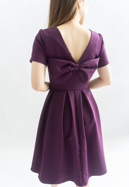 Shrerine Ribbon Bow Dress (Purple)