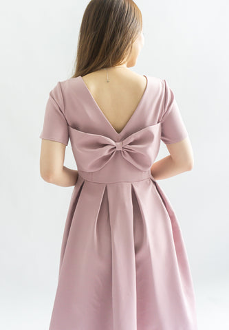 Shrerine Ribbon Bow Dress (Pink)