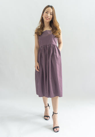 Doo Doo Shark Prints Dress (Purple)