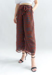 Georgiana Geometric Prints Culottes (Red)