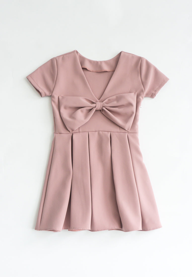 Little Shrerine Ribbon Bow Dress (Pink)