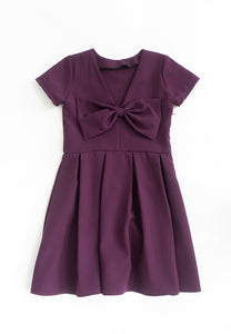 Little Shrerine Ribbon Bow Dress (Purple)