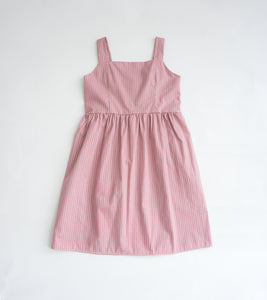 Little Megan Lattice Prints Dress (Pink)