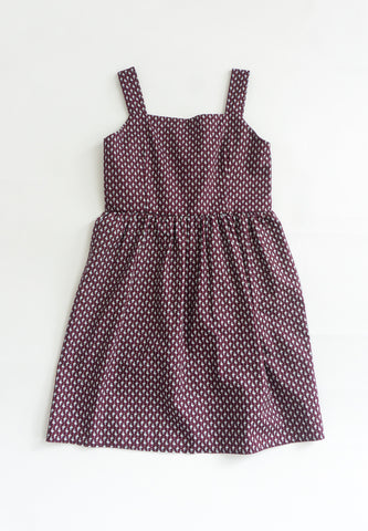 Little Doo Doo Shark Prints Dress (Purple)