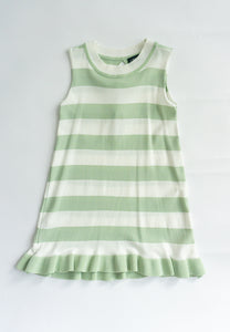 Little Lottie Knitted Striped Dress (Green)