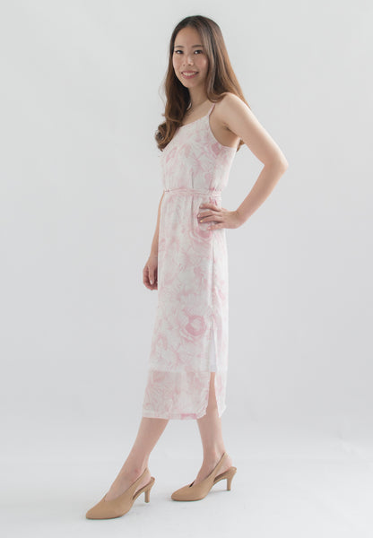 Rosalind Cami Midi Dress (Pink)