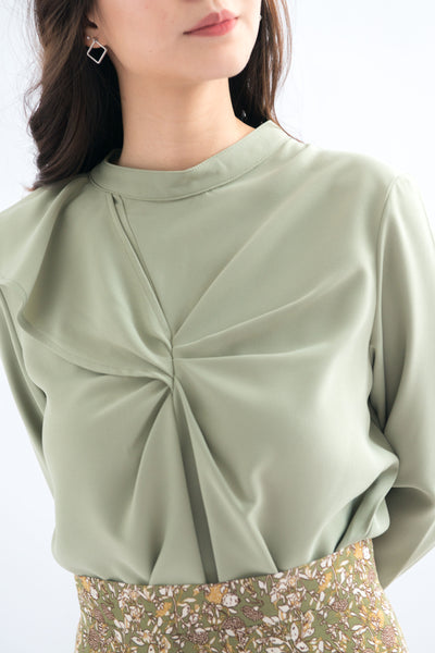 Piper High Neck Long Sleeve Top (Green)