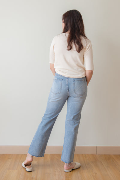 Bertha Loose Cut Denim Pants (Blue)