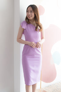 Lilyana Toga Style Sheath Dress (Purple)