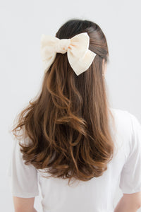 Feya Ribbon Hairclip (White)