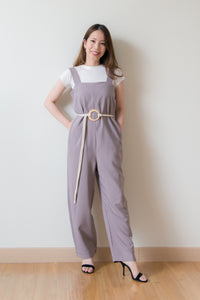 Kinsley Jumpsuit With Rope Belt (Grey)