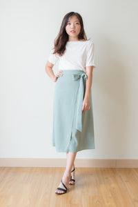 Laurel Front Slit Pencil Skirt (Mint Green)