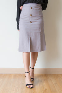 Zola Front Slit Skirt (Grey)
