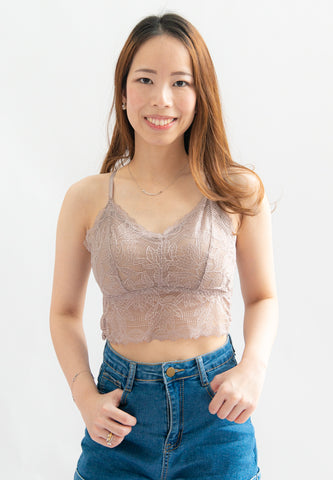 Mew Lace Bralette (Purple)