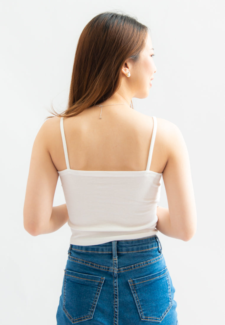 Marvina Padded Bra Top (White)