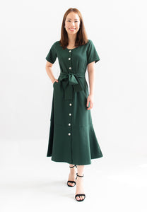 Shanice Button Down Dress (Green)