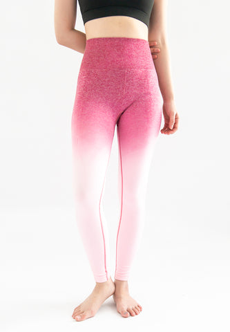 [Pre-order] Kinsler Ombre Sports Legging (Dark Pink to Light Pink)