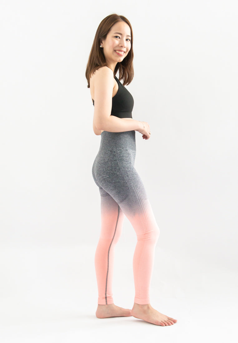 Kinsler Ombre Sports Legging (Dark Grey to Pink)