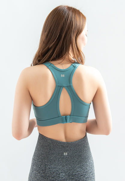 Dansby Adjustable Straps Sports Bra (Teal)