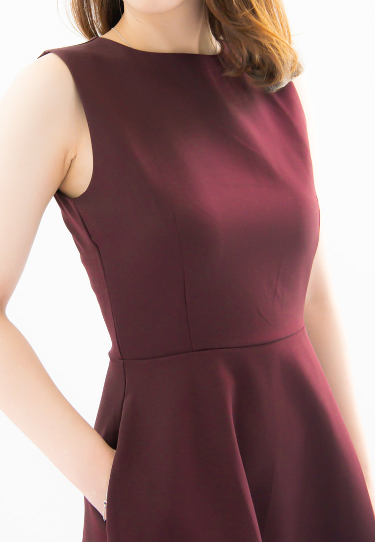 Laurie A-Line Dress (Burgundy)