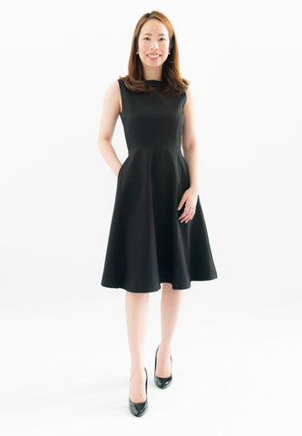 Laurie A-Line Dress (Black)
