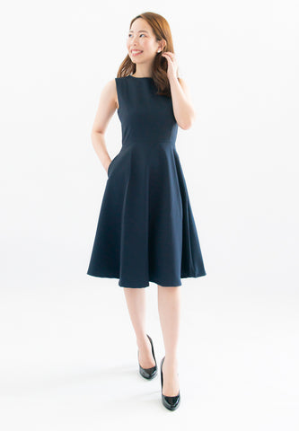 Laurie A-Line Dress (Navy)