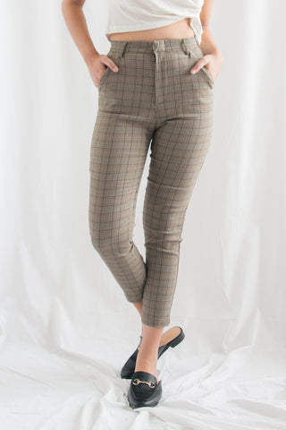 Inez Formal Skinny Pants (Brown)