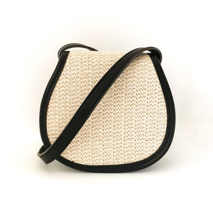 Mini Woven Sling Bag (Black)