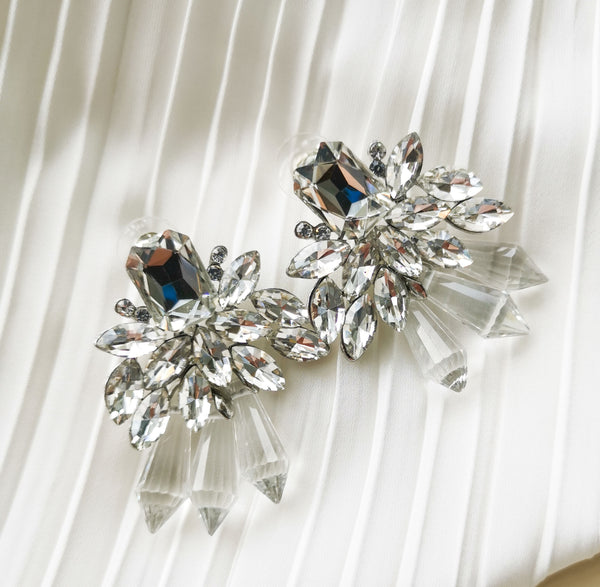 Bella - Diamond Crystal Earrings