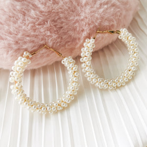 Belina Pearl Loop Earrings