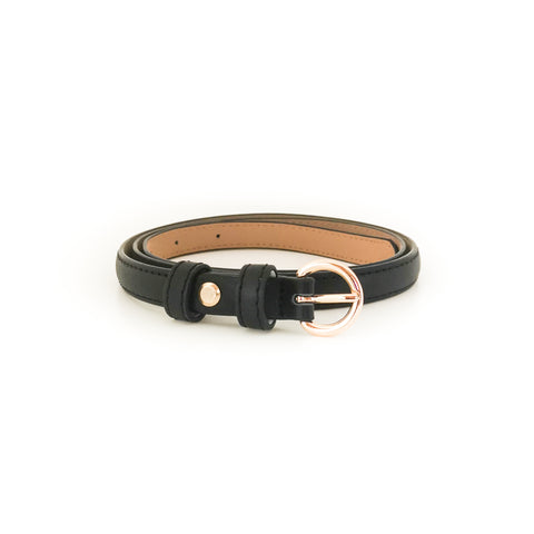 Gold Circle Buckle Belt (Black)