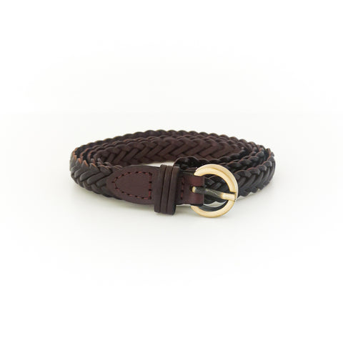 Woven Mesh Belt (Brown)