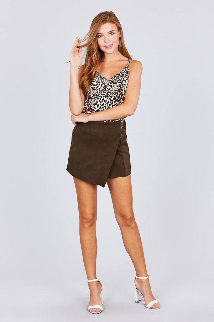 Ladies Animal Print Cami Dress Top