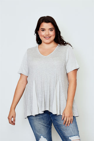 Plus size v neck loose top