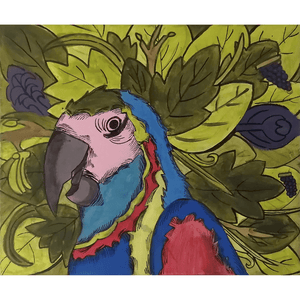 Acrylic Painting Amazon Macaw Buy Now Artezaar Online Art Gallery in Dubai UAE