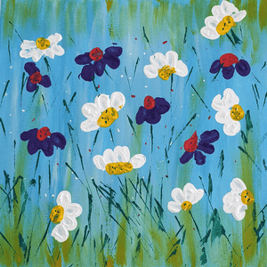 Acrylic Painting Floral Spring Buy Now Artezaar Online Art Gallery in Dubai UAE