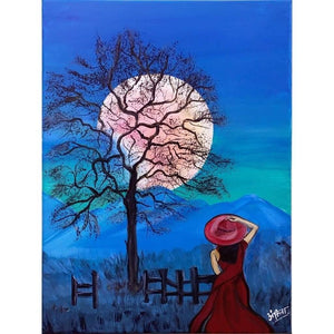 Acrylic Painting Silent Wonderment Buy Now Artezaar Online Art Gallery in Dubai UAE