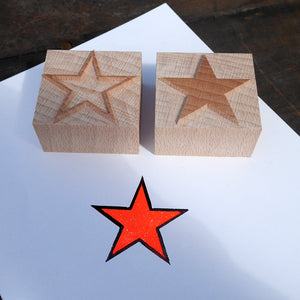 NEW Letterpress 2 colour/chromatic star - 10 line size