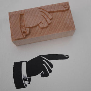 NEW DeLittle Letterpress Manicule, Printers Fist - 10 line size - Pair (Left and Right Pointing)