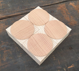 NEW Circle/Dot Letterpress Ornament 10 line size