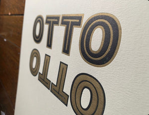 Introducing 'Otto Chromatic' Letterpress font