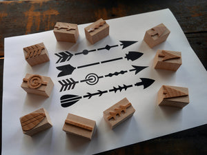 NEW Letterpress Printing Blocks - Set of Ornamented Arrows - 5 Line