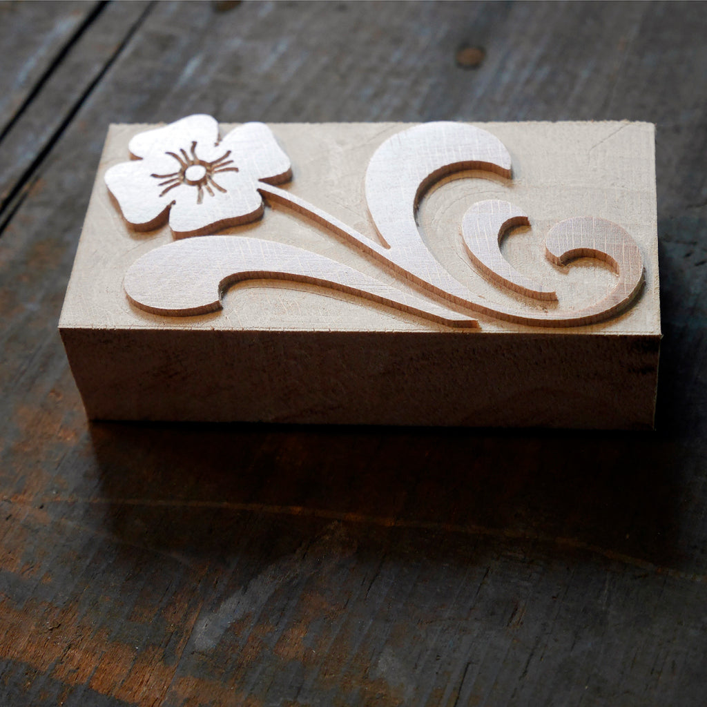 NEW Letterpress DeLittle 'Flower' Ornament 10 line size