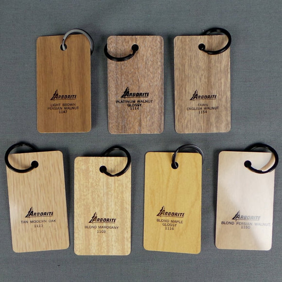 1960s Arborite Slice Wooden Small Keyrings, Blonde Colours