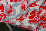 1950s Red and Grey Tropical Flowers Full Circle Skirt, by Gor-Ray, 24in Waist