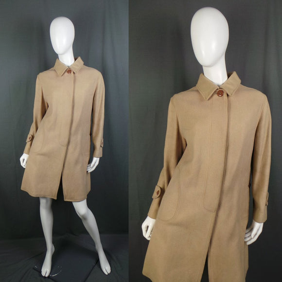 1950s Camel Colour Pure Wool Car Coat, by Albatros, 42in Bust